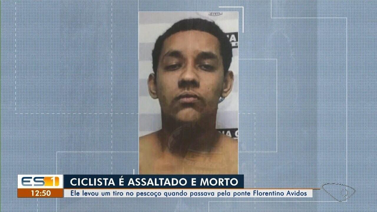 Suspeito de matar ciclista em Vitória é preso com arma do crime e celular de vítima