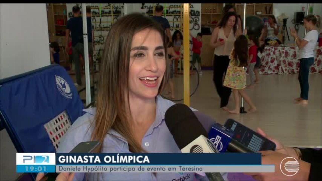 Daniele Hypólito participa de eventos em Teresina