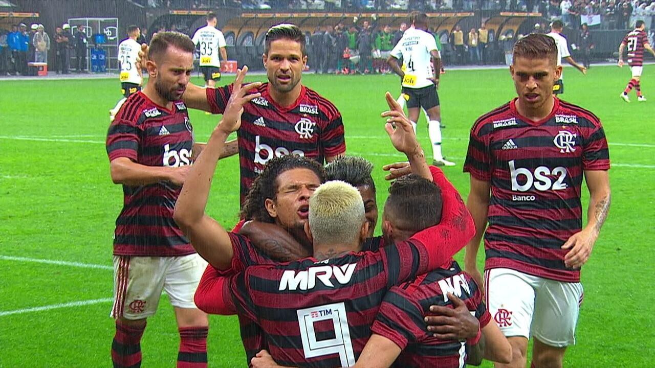 O gol de Corinthians 0 x 1 Flamengo pelas oitavas da Copa do Brasil 2019