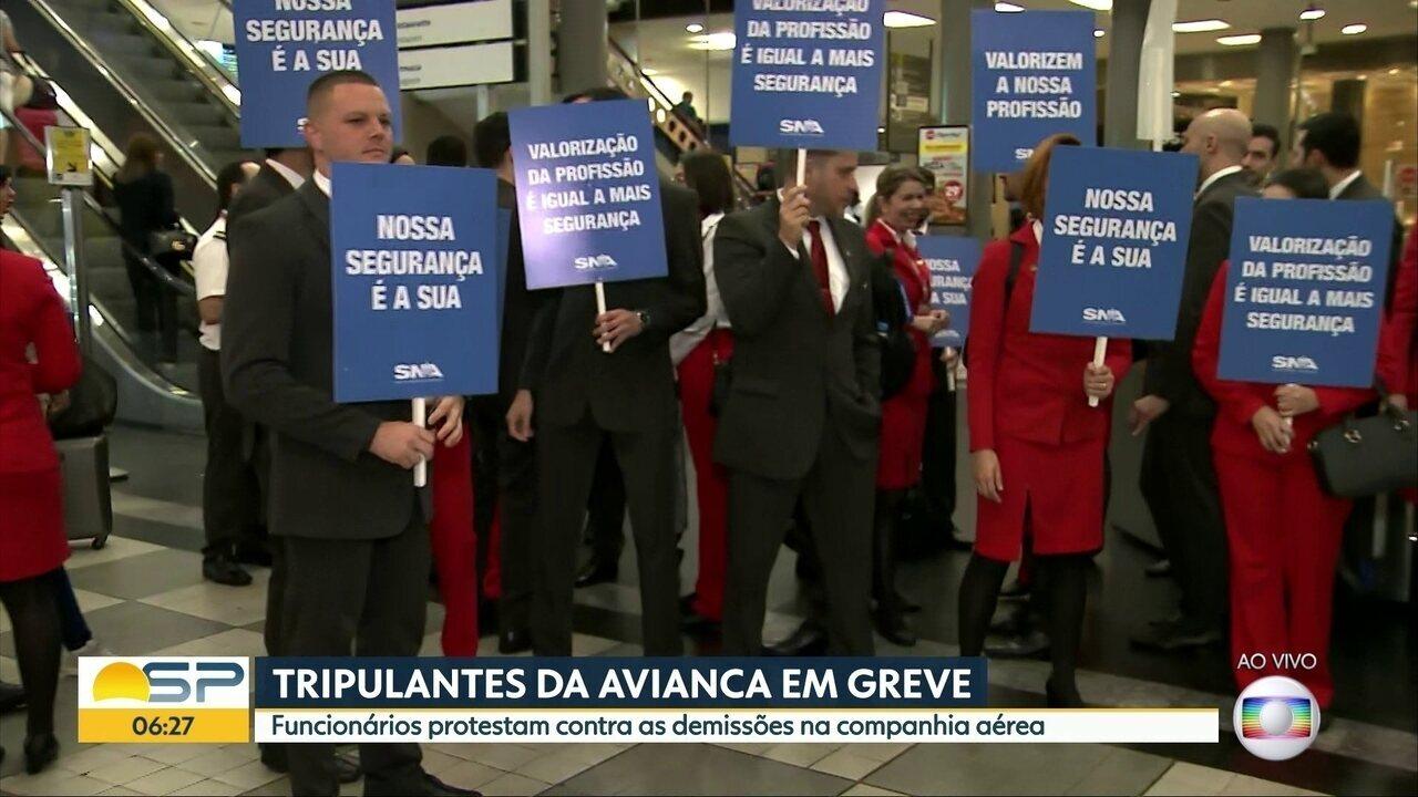 Tripulantes da Avivanca Brasil anunciam greve para esta sexta-feira