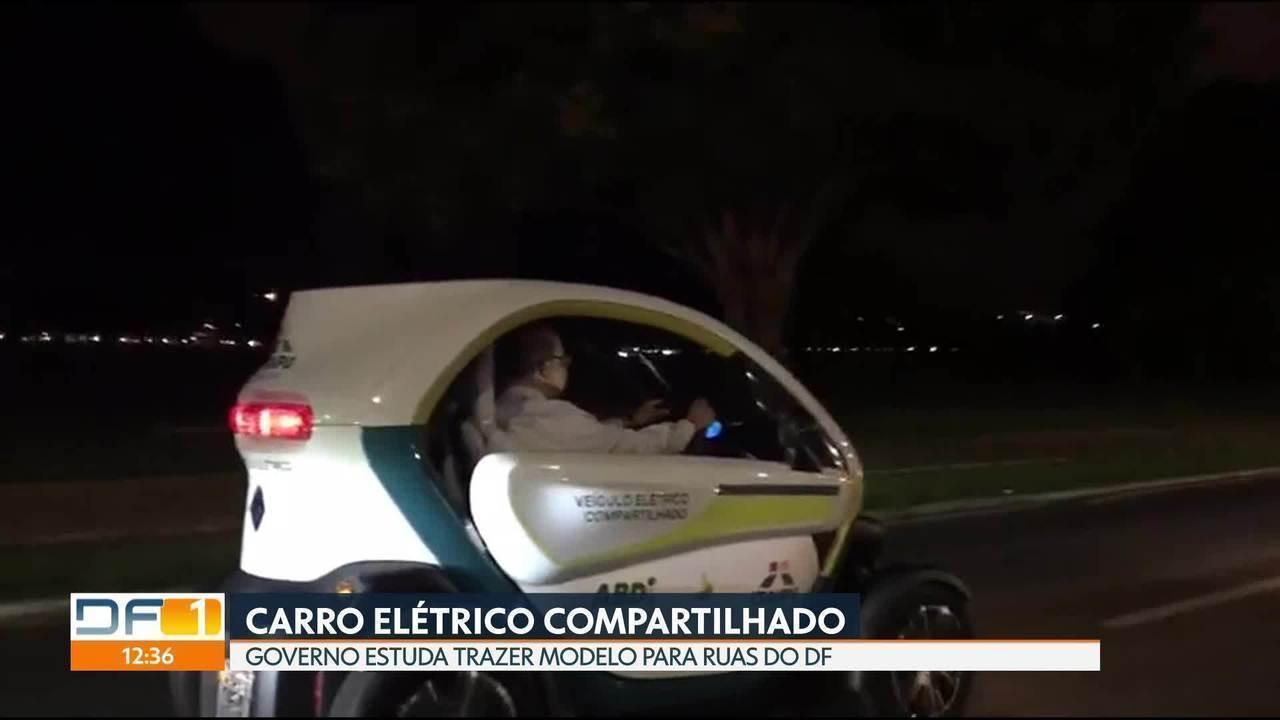Governo estuda trazer carro elétrico compartilhado para o DF