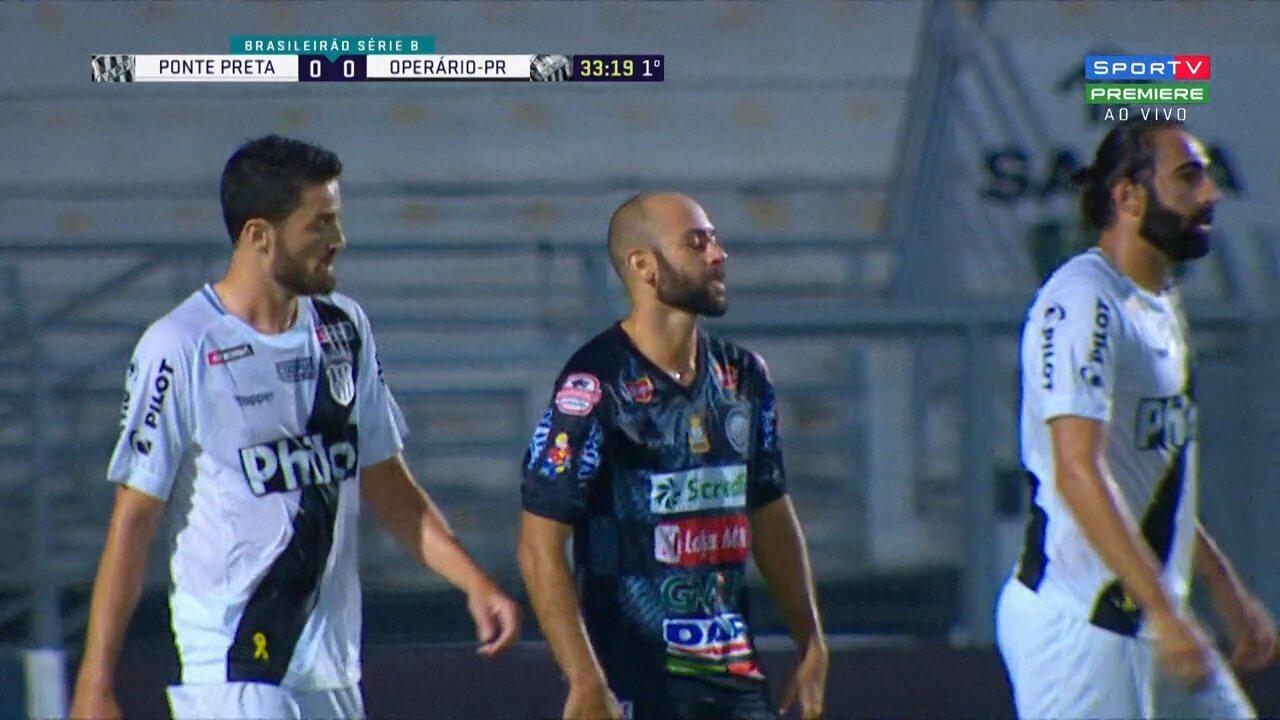 Allan Vieira cruza, Marcelo resvala de cabeça e a bola passa rente à trave de Ivan