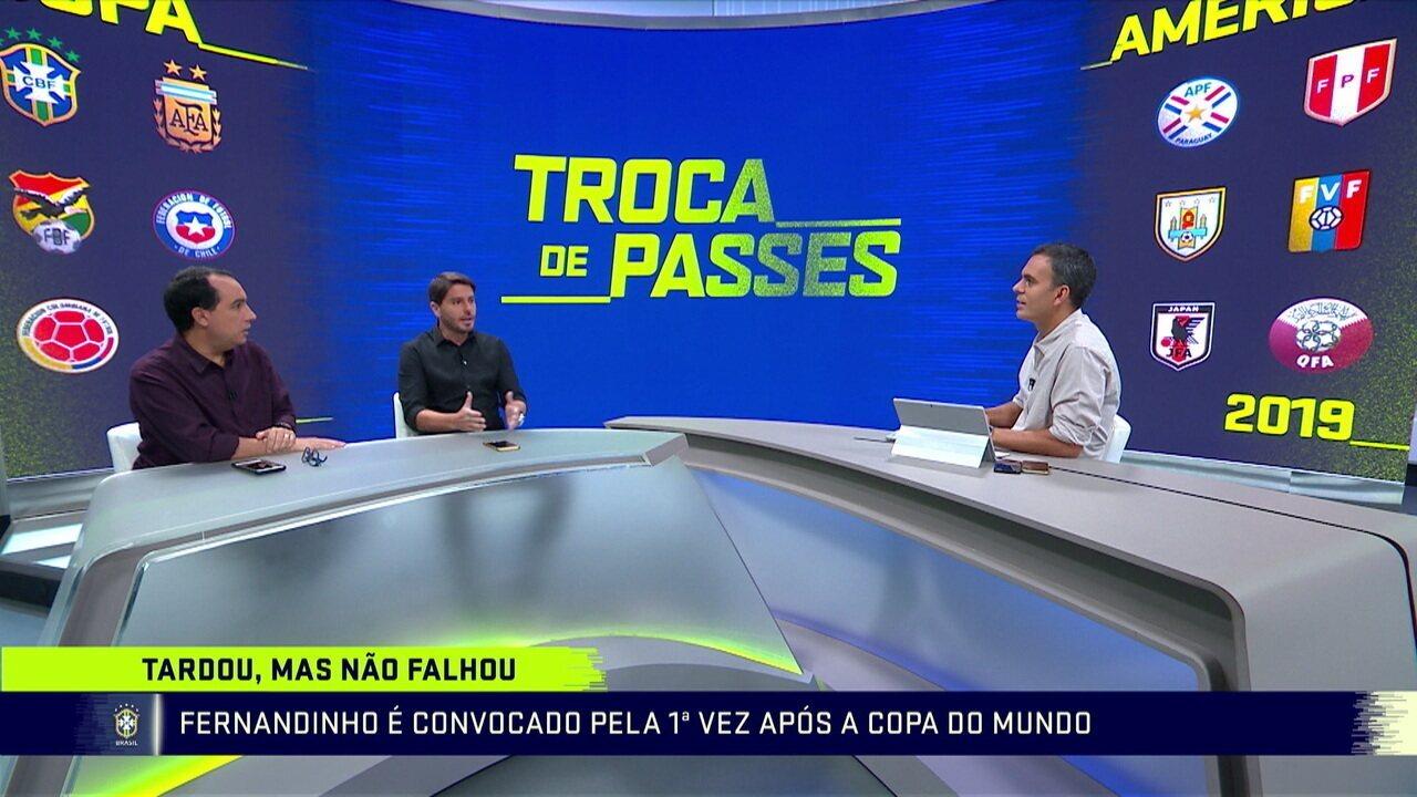 Comentaristas falam sobre convocação de Fernandinho