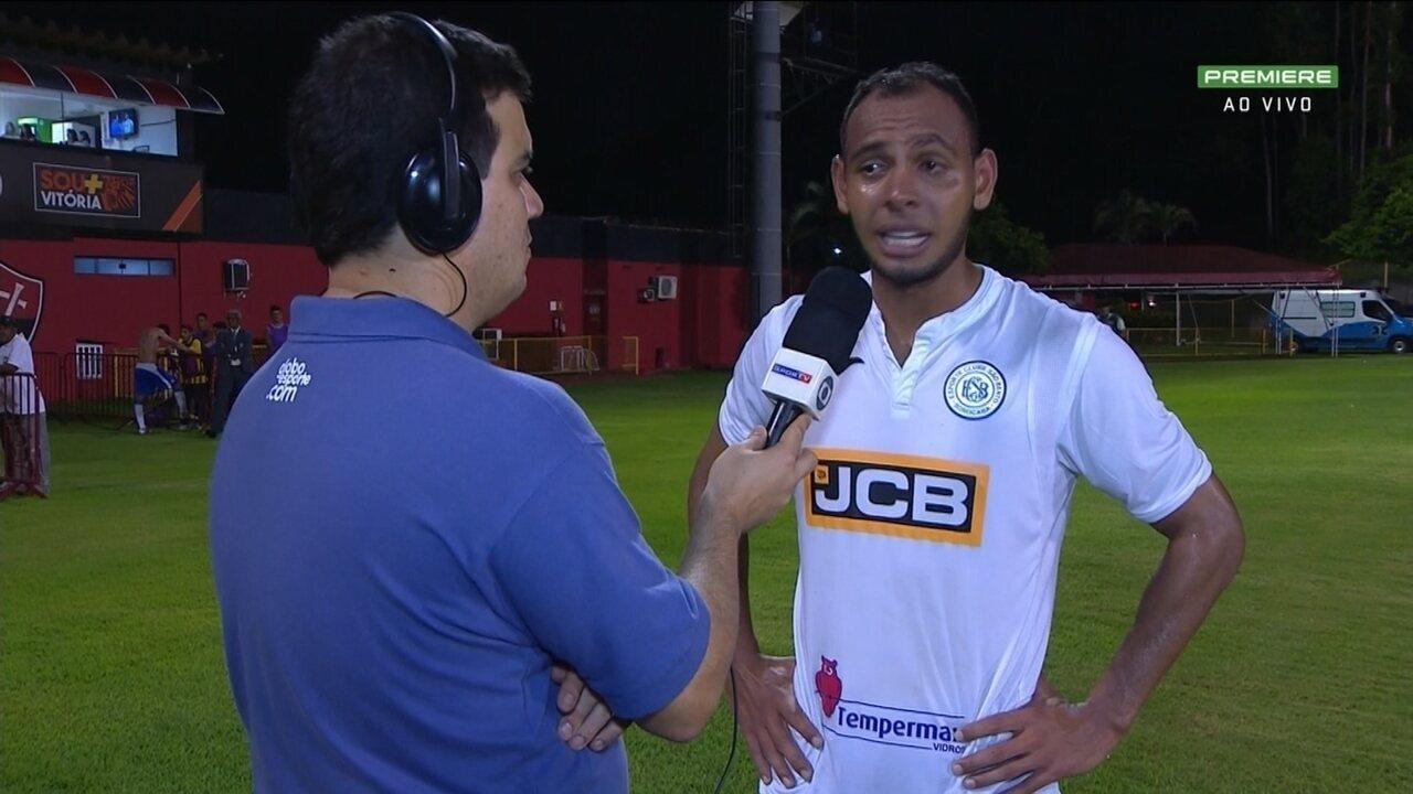 Mansur, do São Bento, fala da vitória sobre o Vitória pela Série B do Brasileiro