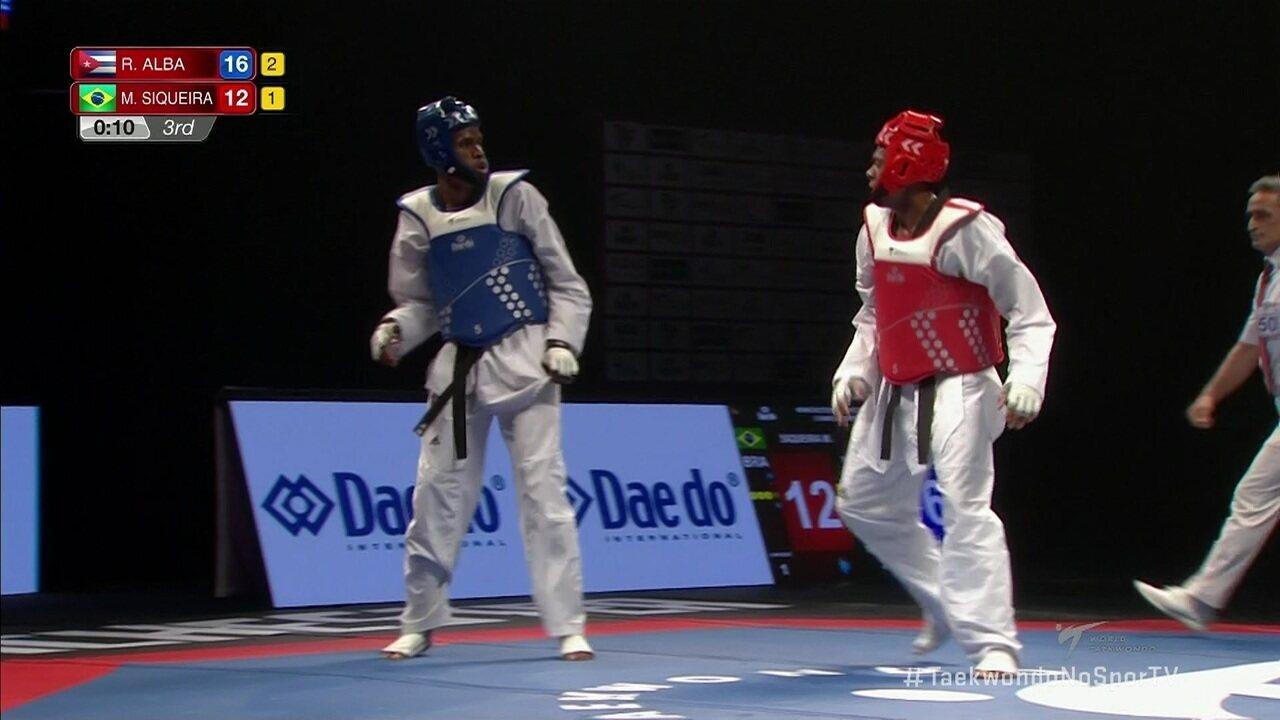Maicon Andrade perde para o cubano Rafael Alba e fica com o bronze no Mundial de taekwondo