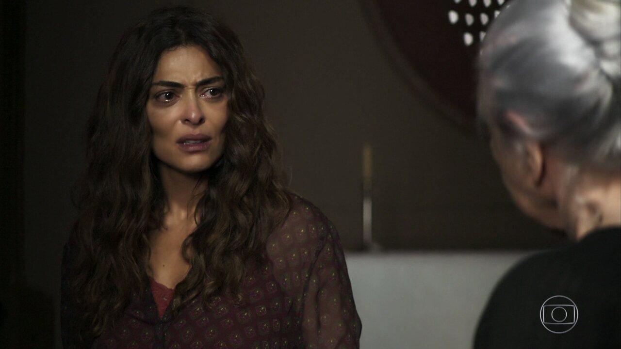 Maria da Paz (Juliana Paes) acusa Zenaide de ter quebrado o pacto e se surpreende com revelação de Dulce (Fernanda Montenegro)