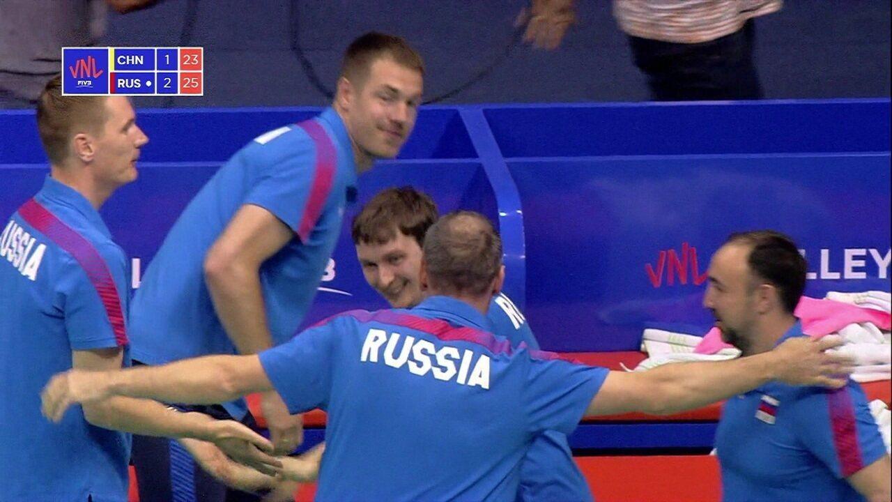 Melhores momentos de China 1 x 3 Rússia pela Liga das Nações de vôlei feminino