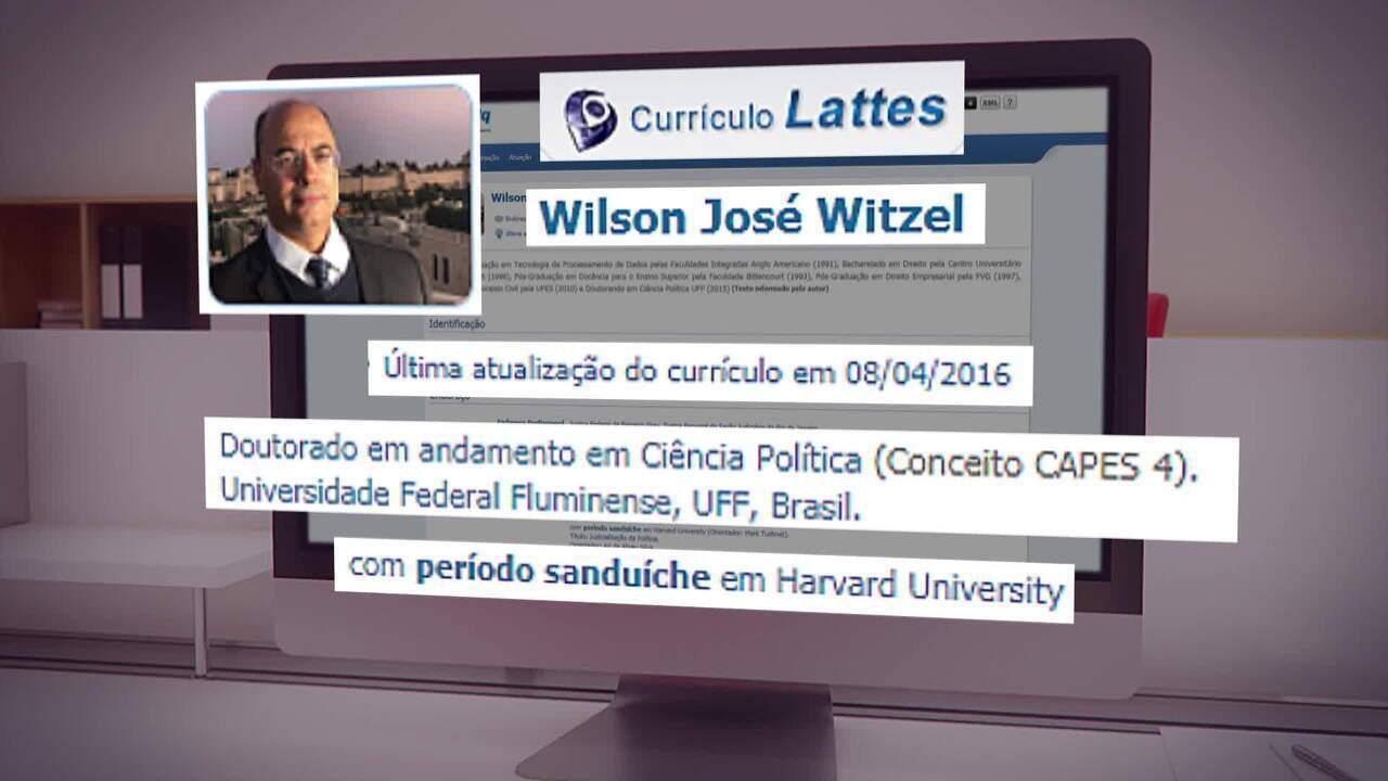 Wilson Witzel colocou em currículo intercâmbio que não fez em Harvard