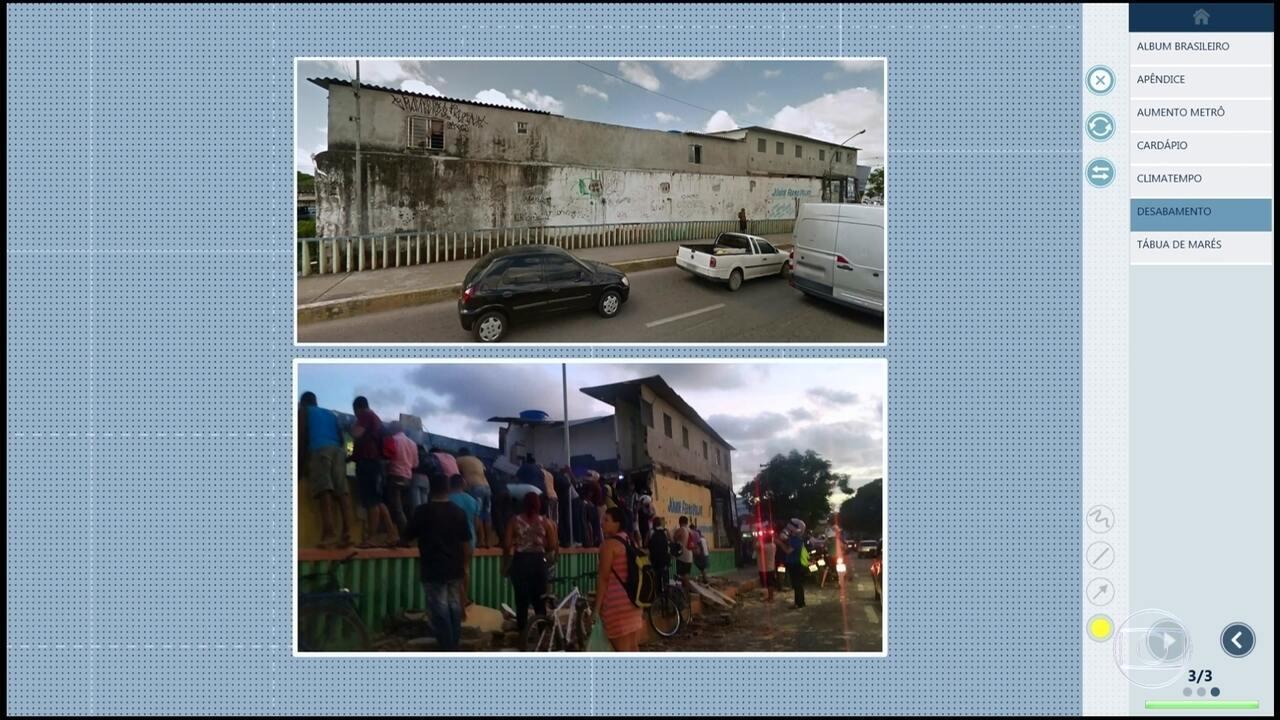 Veja o antes e depois no imóvel que desabou no Recife