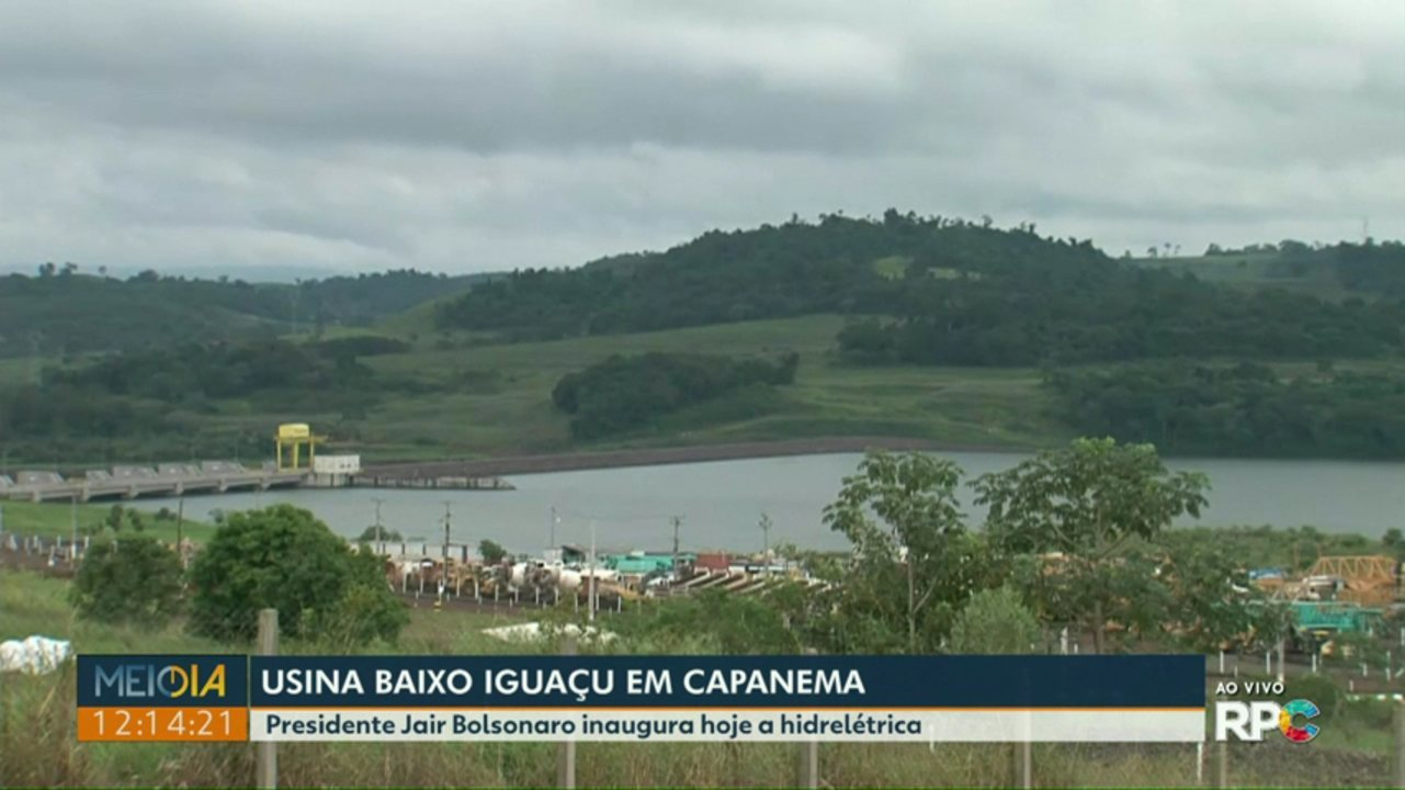 Após vários entraves, Usina Hidrelétrica Baixo Iguaçu é inaugurada; presidente Bolsonaro cancelou a viagem para Capanema