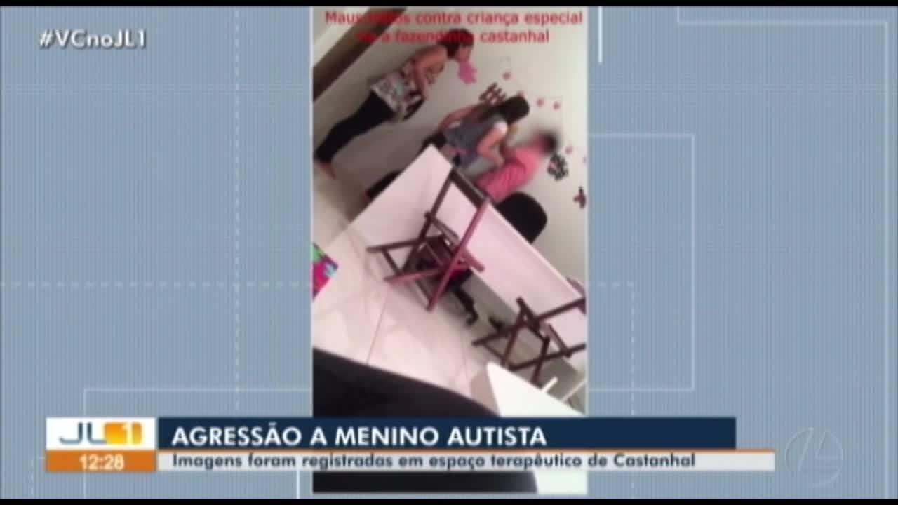 Resultado de imagem para Vídeo mostra terapueta ocupacional agredindo criança com autismo em Castanhal