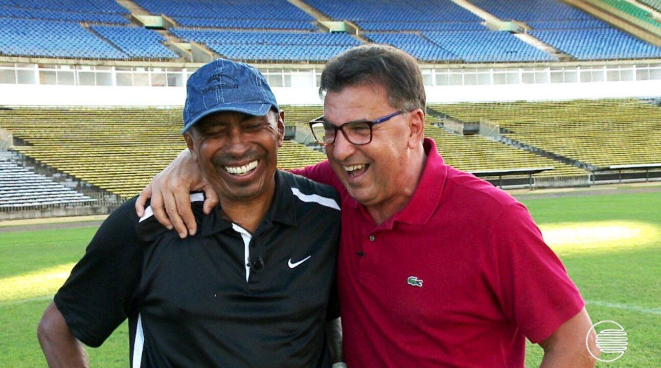 GE promove reencontro entre Estevam e Toinho, campeões brasileiros pelo São Paulo, em 1977