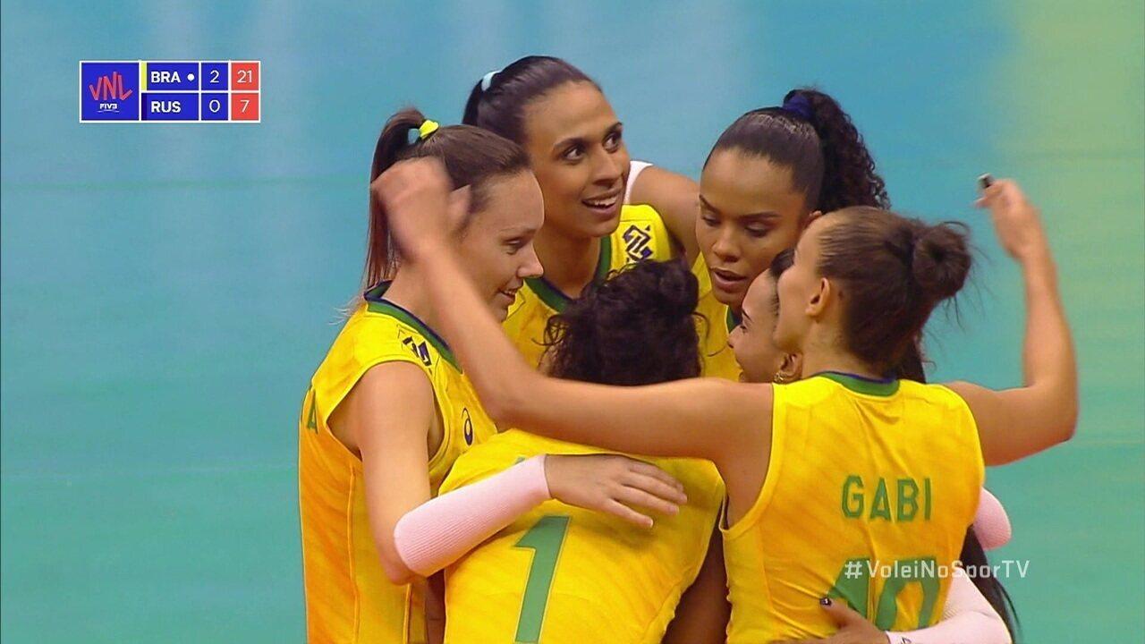 Melhores momentos: Brasil 3 x 0 Rússia pela Liga das Nações