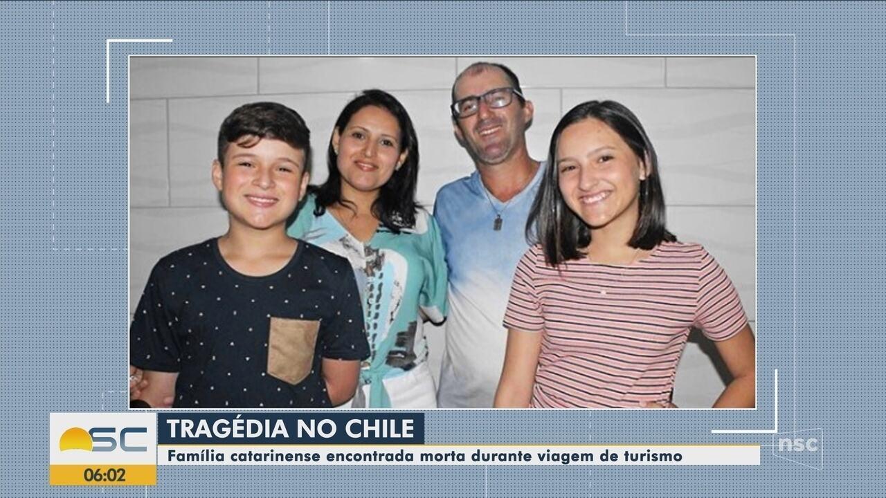 Polícia investiga morte de família catarinense por monóxido de carbono no Chile