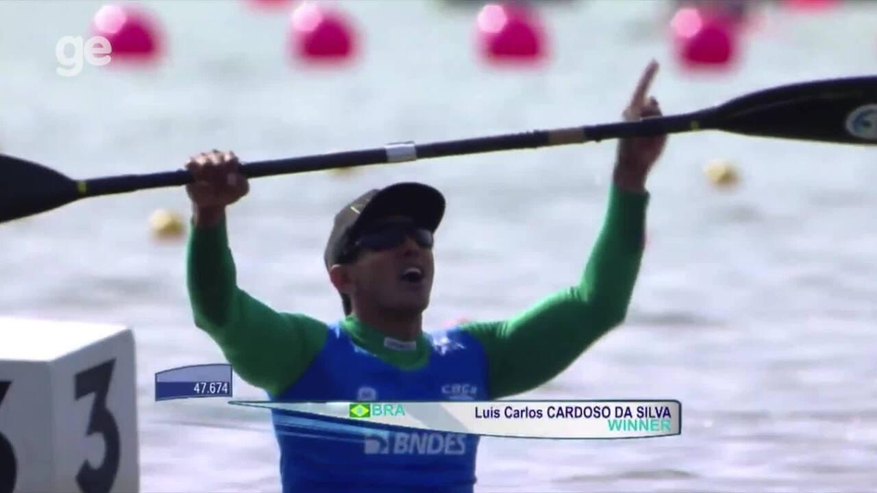 Luis Carlos Cardoso é campeão da Copa do Mundo de paracanoagem