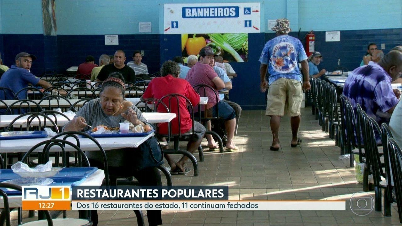 Dívida milionária do estado faz com que 11 restaurantes populares continuem fechados