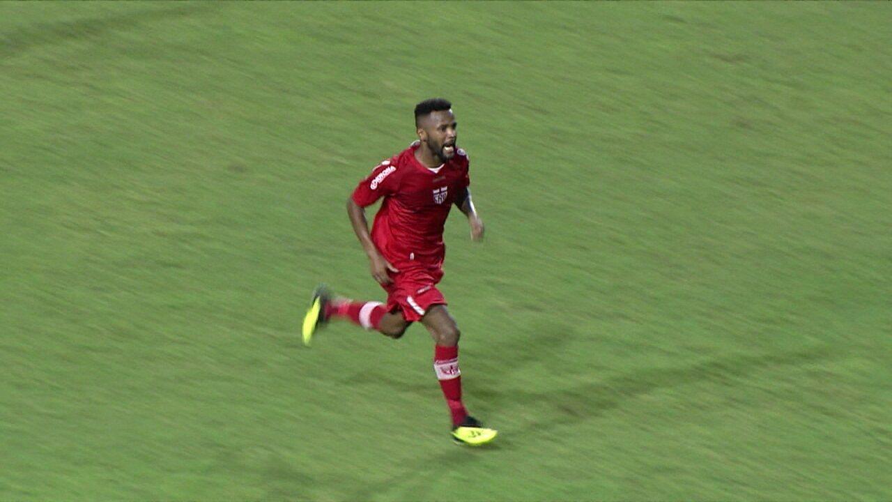 Os gols de CRB 1 x 1 Vila Nova, pela 5º rodada do Campeonato Brasileiro da Série B
