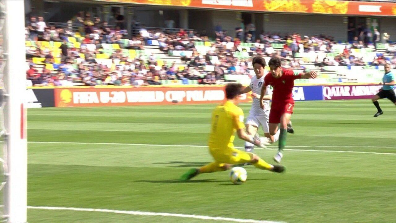 O gol de Portugal 1 x 0 Coréia do Sul pela Copa do Mundo Sub-20