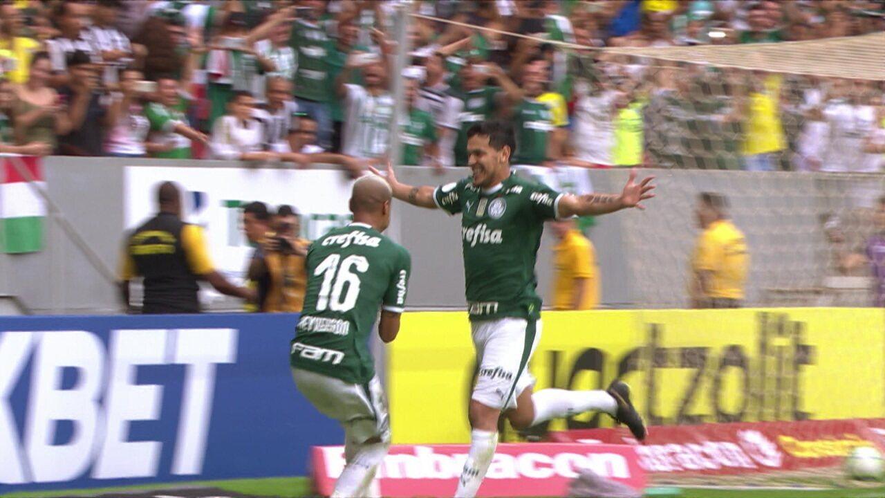 O gol de Botafogo 0 x 1 Palmeiras pela 6ª rodada do Brasleirão 2019