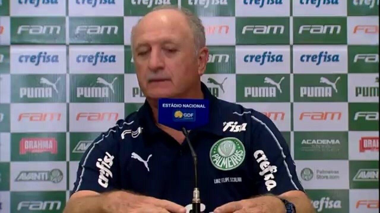 Veja a entrevista de Felipão, do Palmeiras, após a vitória sobre o Botafogo
