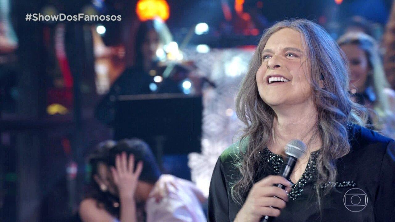 Diogo Nogueira homenageia Angela Rorô no Show dos Famosos