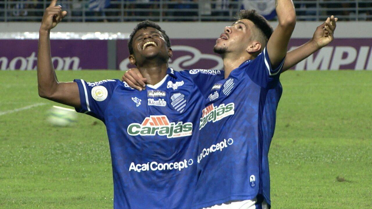 O gol de CSA 1 x 0 Goiás pela 6ª rodada do Brasileirão