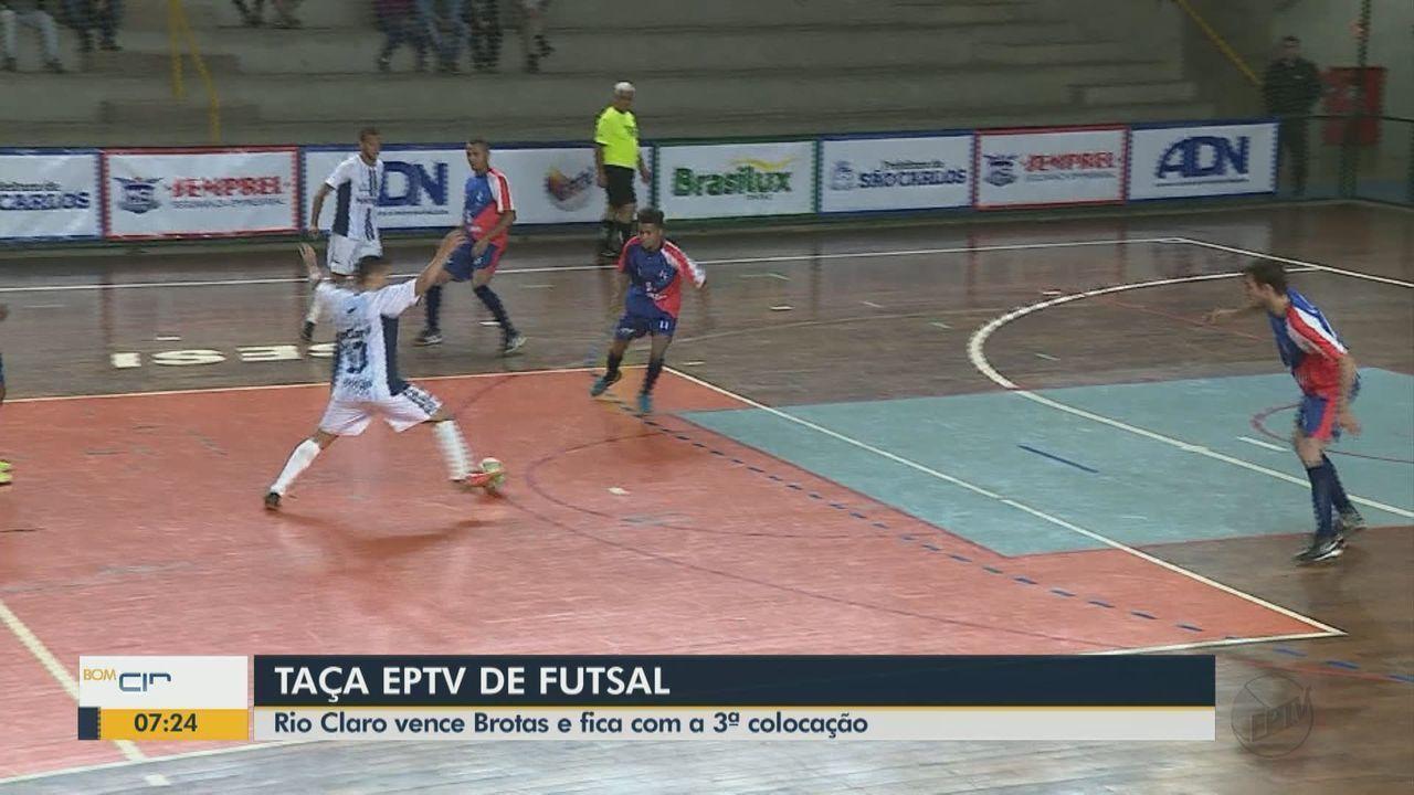 Rio Claro vence Brotas e fica na 3ª colocação na Taça EPTV de Futsal