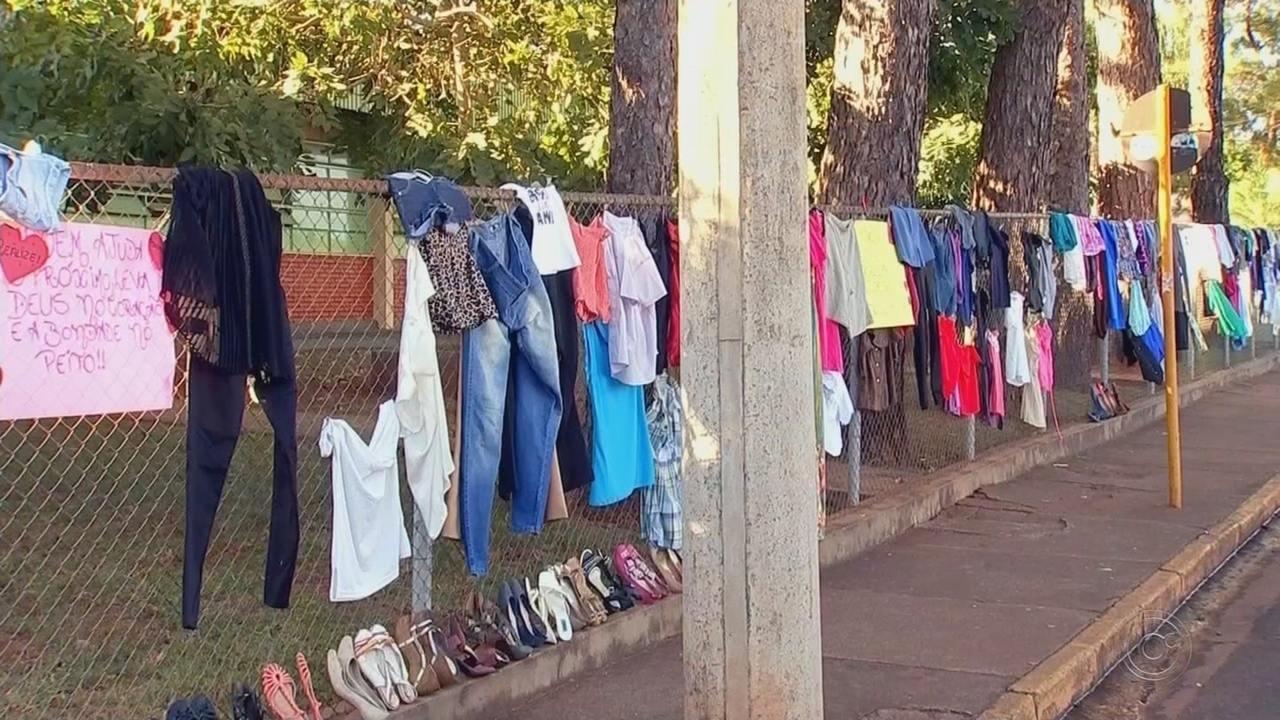Alunos realizam alambrado solidário em escola de Mirassolândia