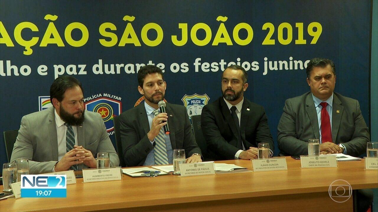 Esquema de segurança para as festas juninas em Pernambuco é divulgado pelo governo