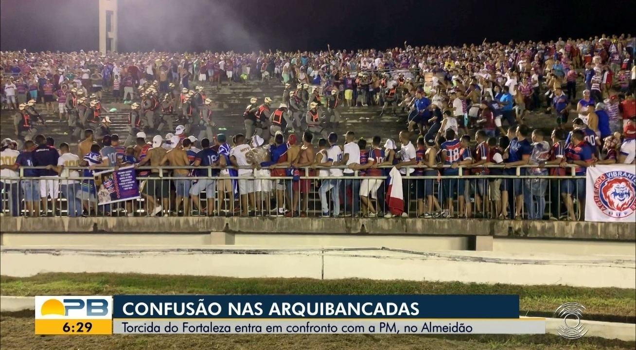 Final da Copa do Nordeste registra confusão nas arquibancadas