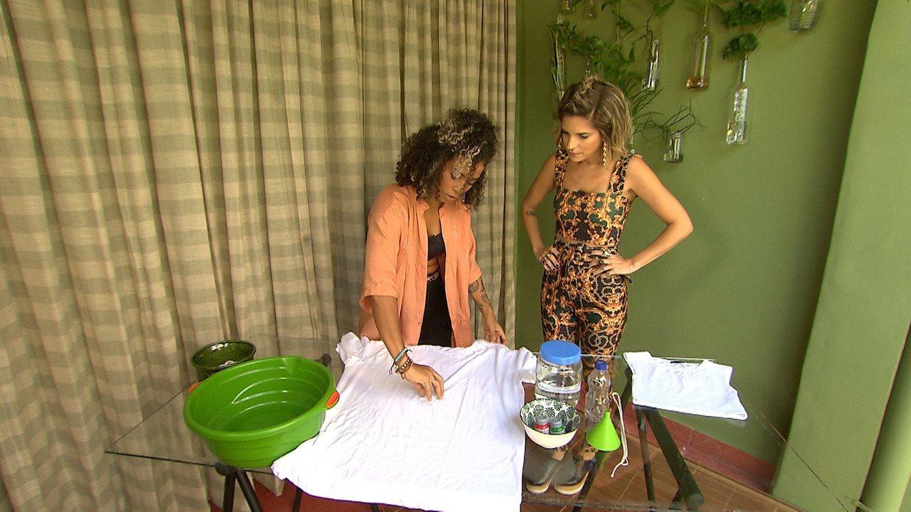 No 'Expresso', Paulinha e a artesã Aretha Flor mostram a técnica sustentável de tie dye
