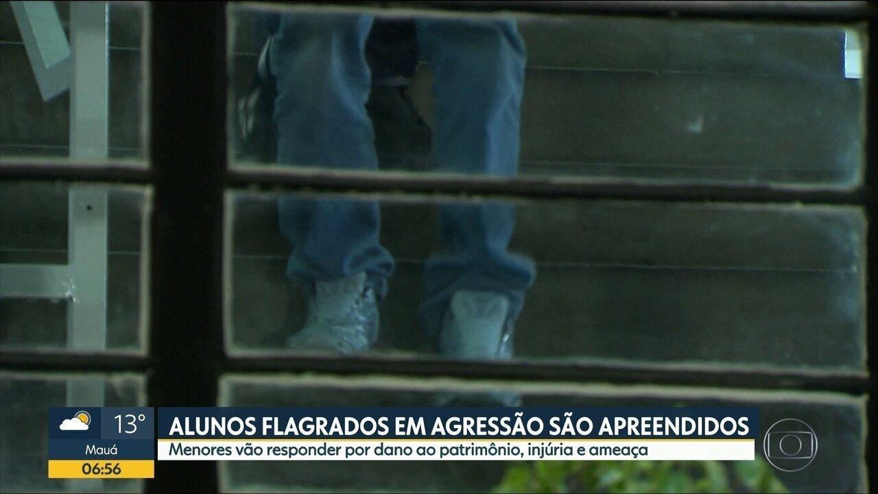 Jovens apreendidos por confusão em escola de Carapicuíba serão ouvidos pela Justiça
