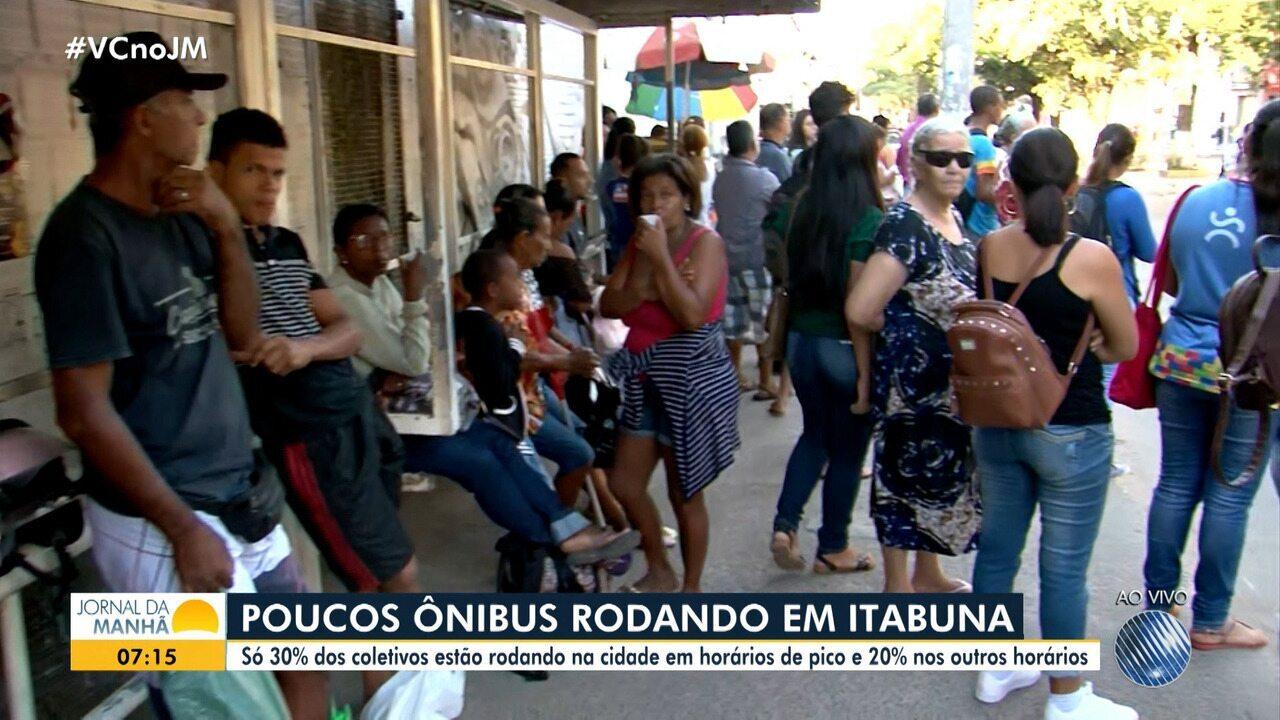 Liminar determina 30% da frota nas ruas durante greve de ônibus em Itabuna