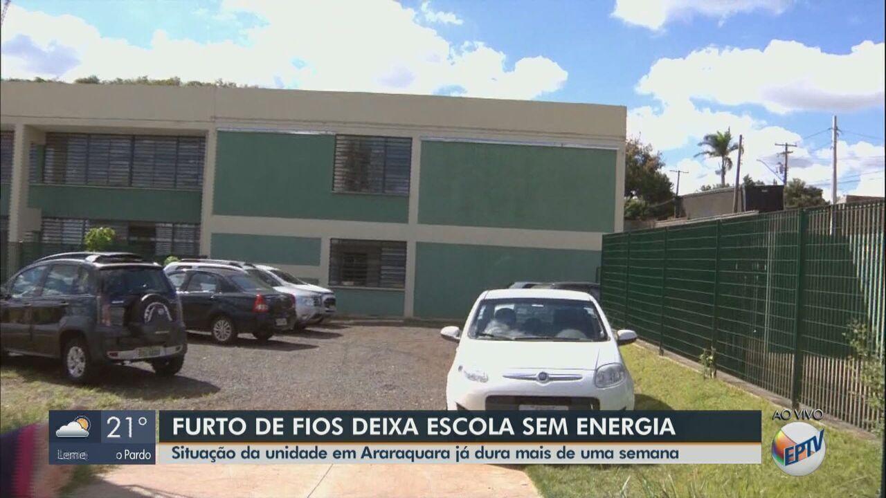 Furto de fios deixa escola sem energia em Araraquara
