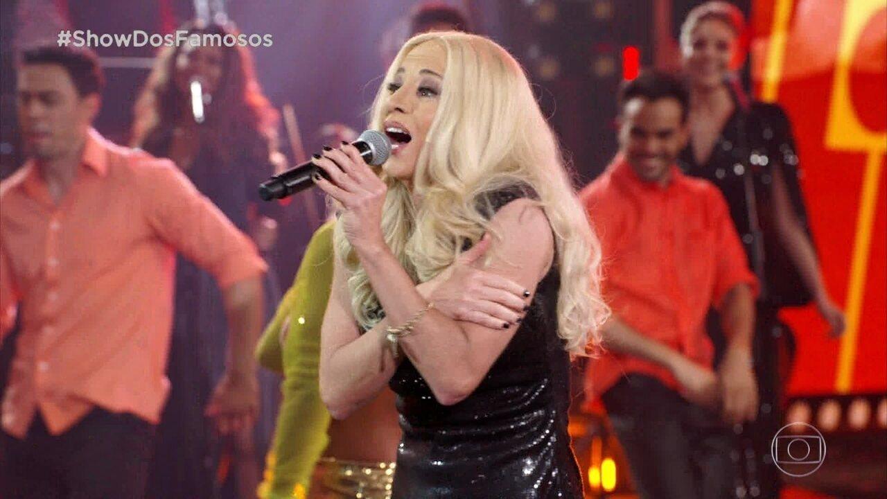 Danielle Winits homenageia Paula Tollerno 'Show dos Famosos'