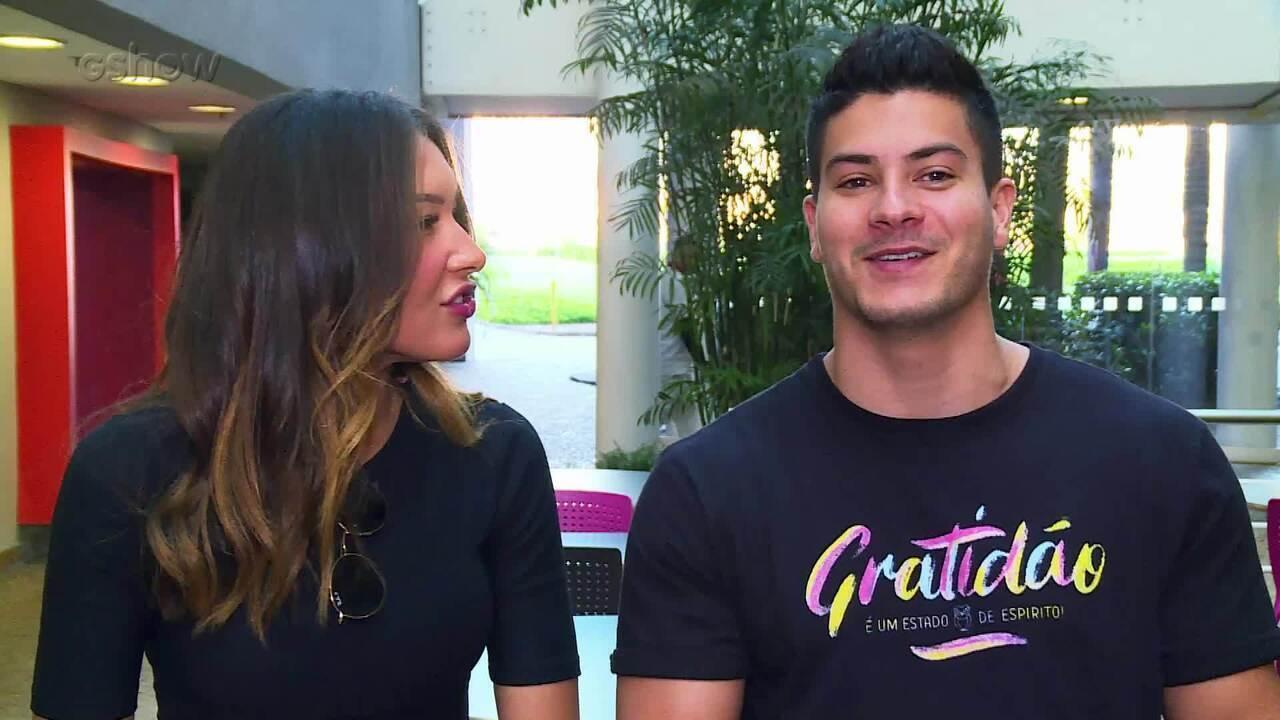 Arthur Aguiar fala sobre Mayra Cardi nos bastidores do 'Dança de Grupo'