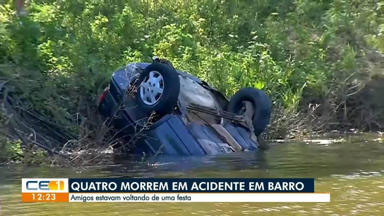 Sobrevivente relata o acidente, em Barro, que matou os quatro amigos