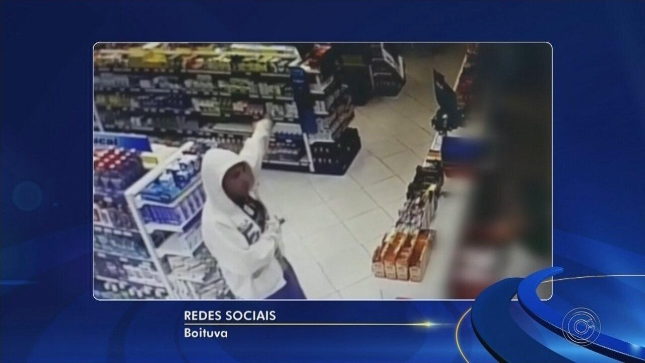 Ladrão é preso depois de roubar farmácia em Boituva