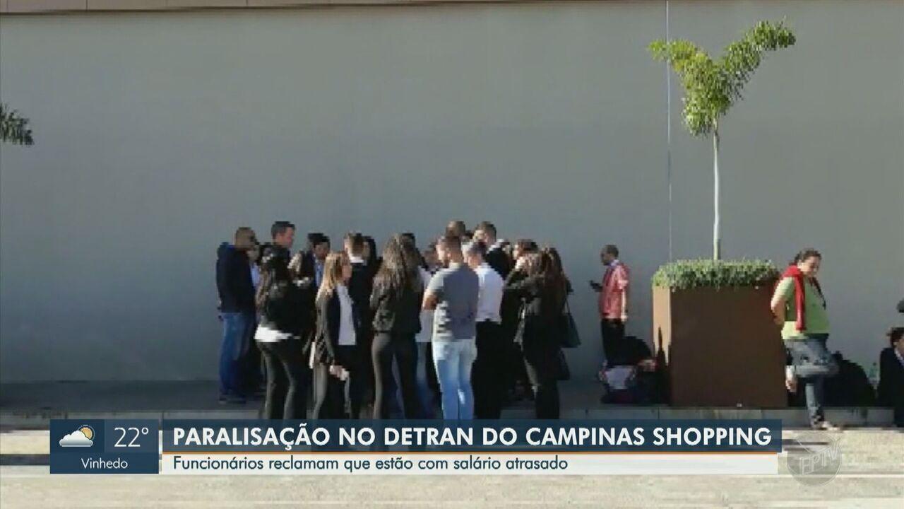 Funcionários do Detran do Campinas Shopping entram em greve nesta terça-feira