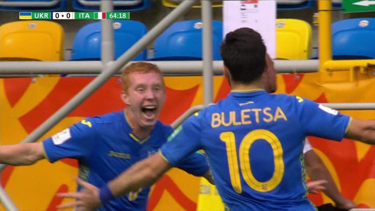O gol de Ucrânia 1 x 0 Itália pela semifinal do Mundial Sub-20 2019