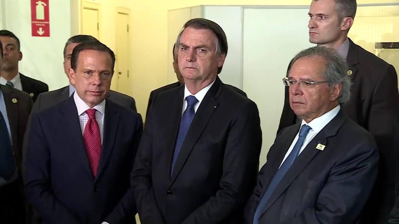 Bolsonaro encerra entrevista em SP ao ser perguntado sobre Sérgio Moro