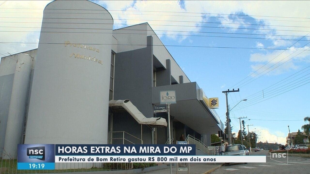 Cidade de SC gastou R$ 800 mil em dois anos com horas extras de funcionários; MP investiga