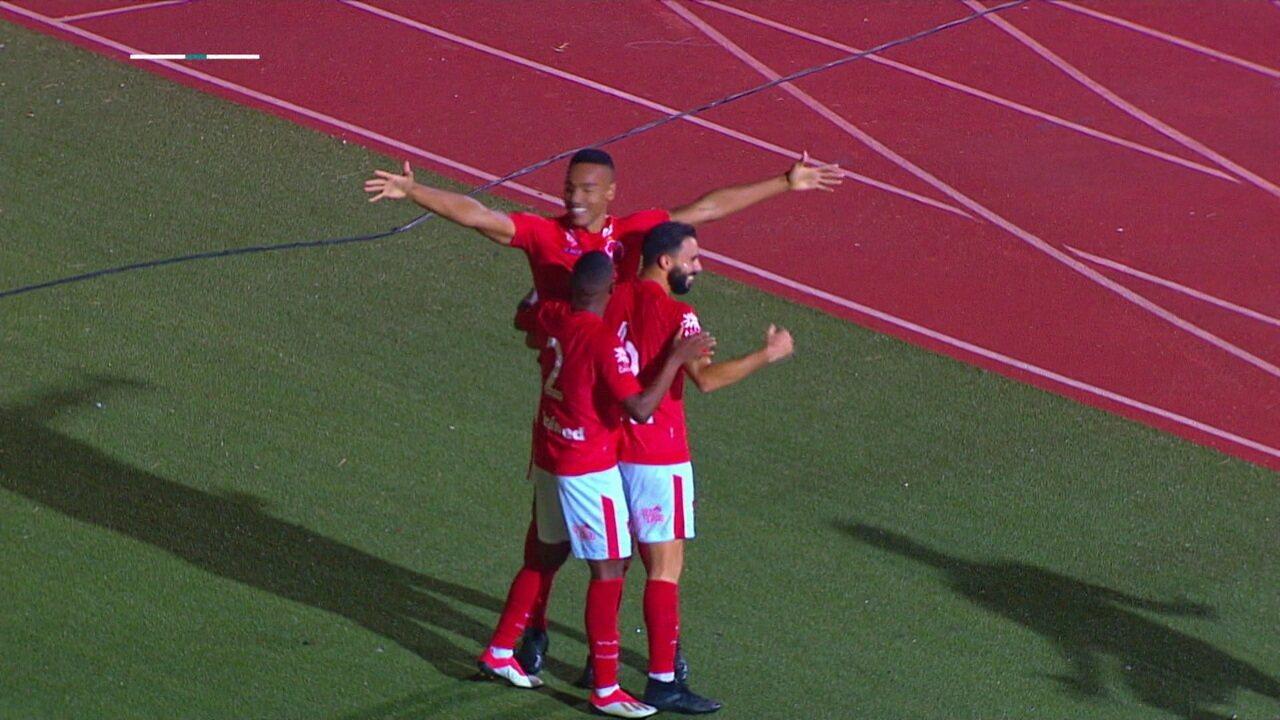 Veja o gol de Bruno Mota contra o São Bento