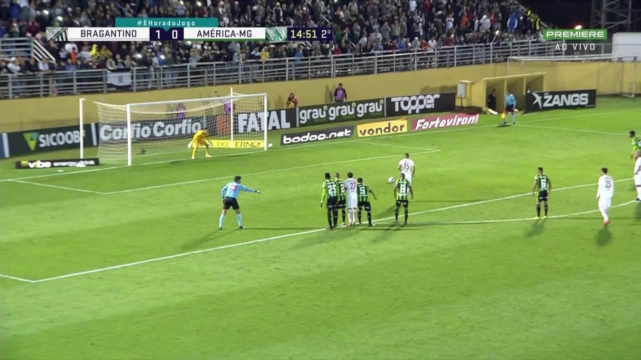 Assista aos melhores momentos de Bragantino 2 x 0 América-MG pela oitava rodada da Série B