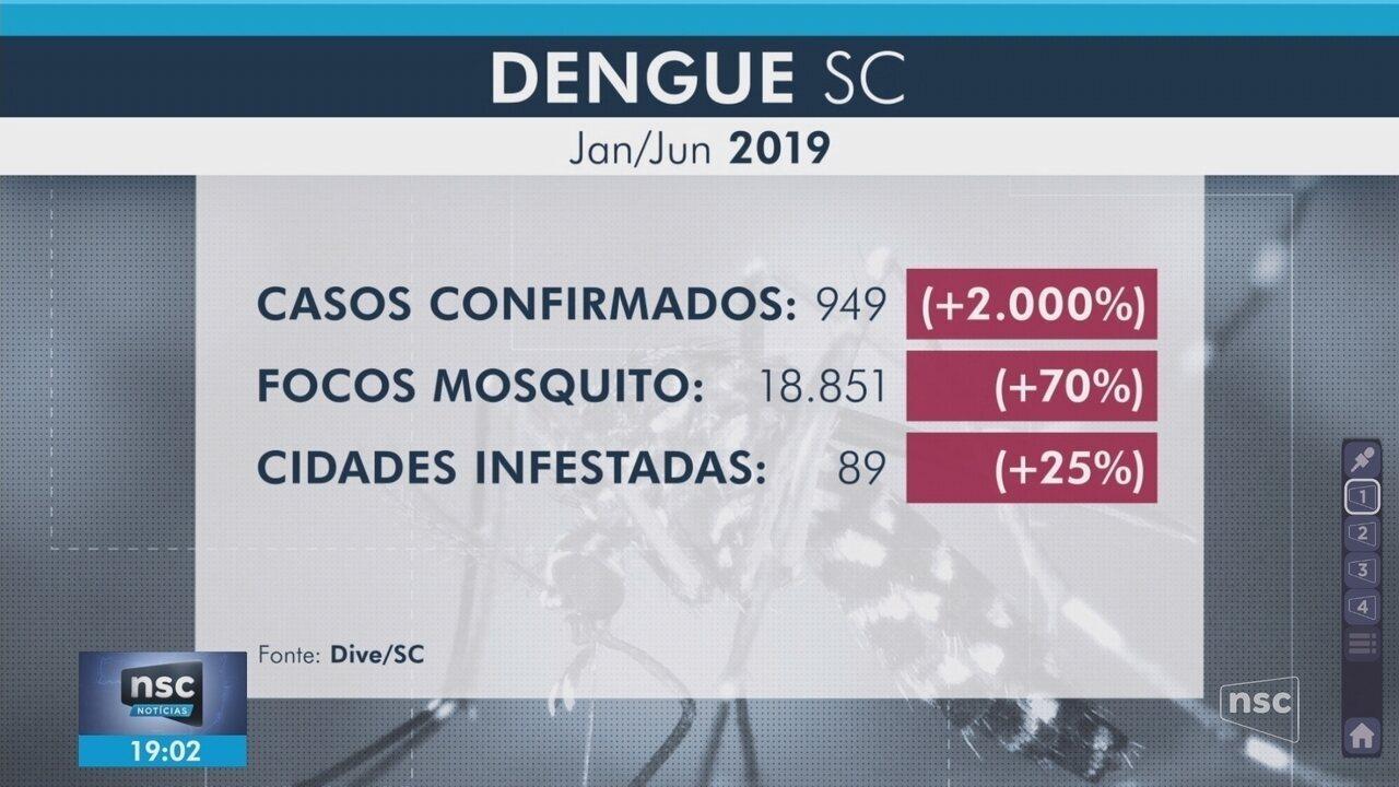 Dive confirma 949 casos de dengue em SC; Joinville se mobiliza em combate a focos