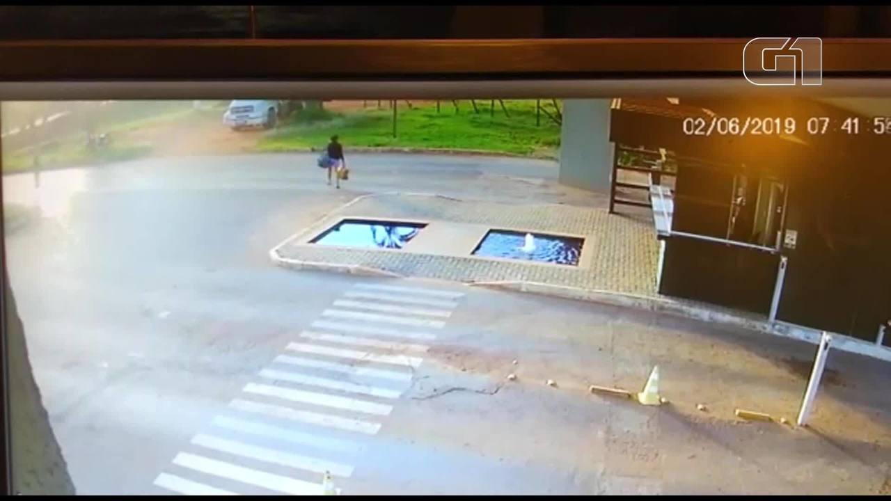 Câmeras de segurança, registraram Genir saindo do condomínio onde ela trabalhava.