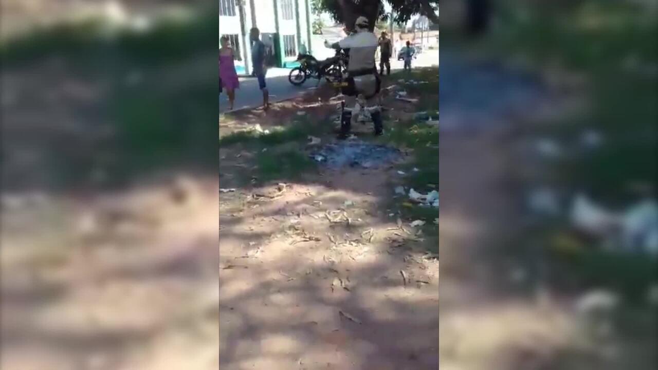 Vídeo registra briga entre agente de trânsito e motorista em Marabá