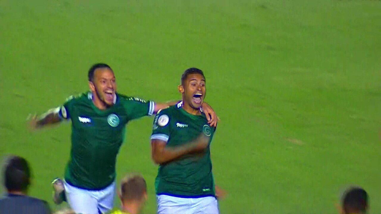 Os gols de Goiás 2 x 1 Athletico-PR pela 9ª rodada do Brasileirão 2019
