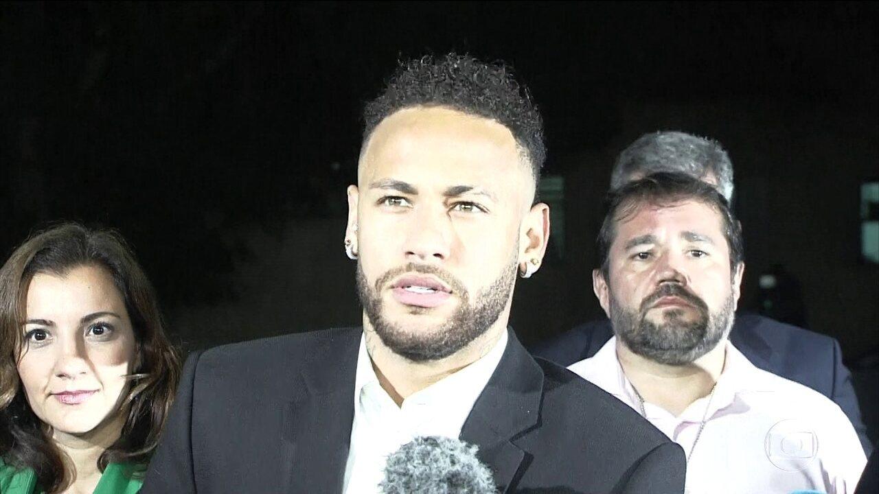 Em depoimento, Neymar diz que fez sexo consentido com Nájila Mendes de Sousa