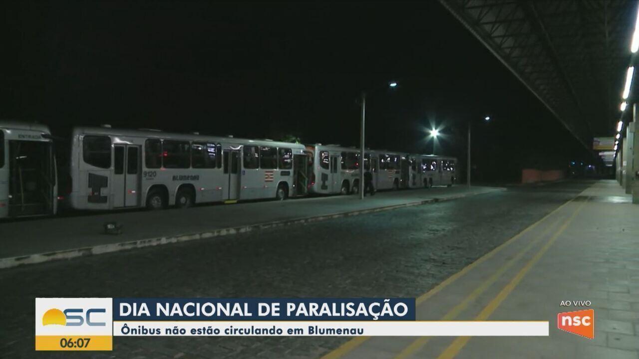 Paralisação afeta transporte coletivo de Blumenau nesta sexta-feira (14)